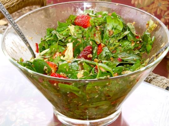 Warm Spinach & Strawberry Salad