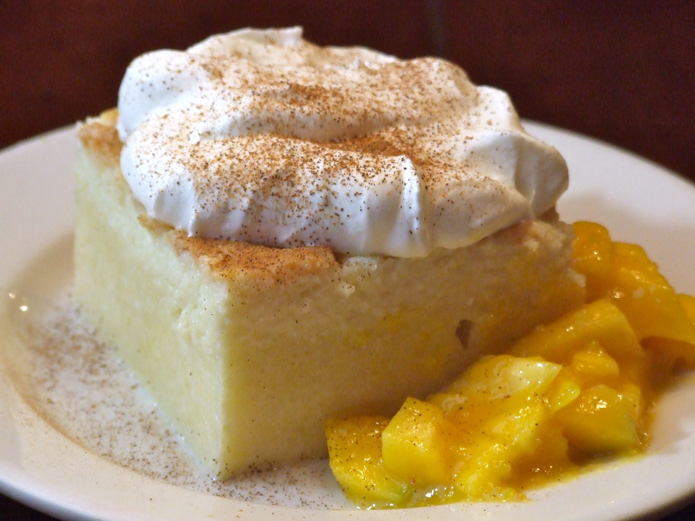 Tres Leches Cake With Mango Cream Recipe — Dishmaps