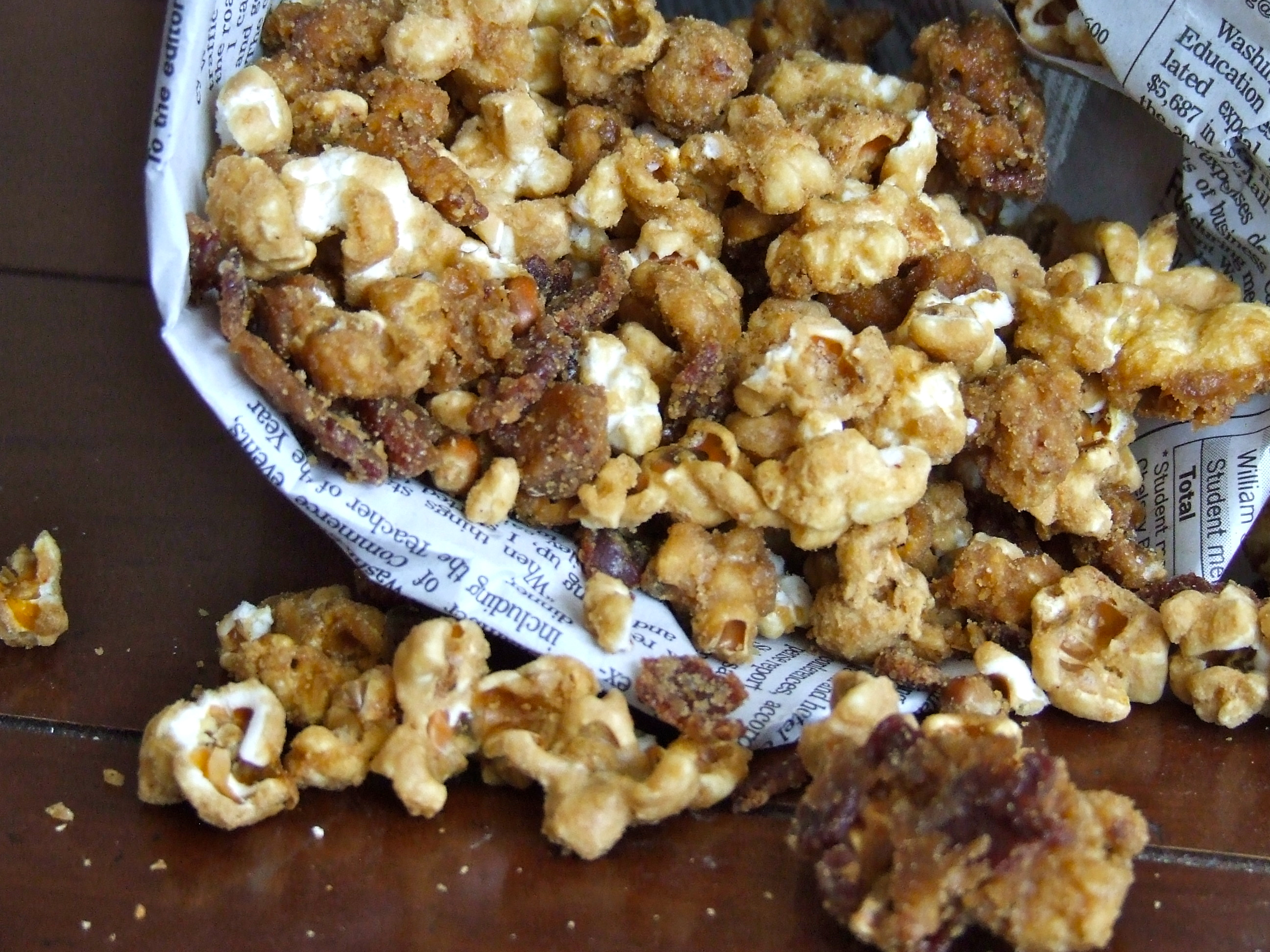 Bacon Bourbon Caramel Popcorn | Someone Left The Cake Out In The Rain