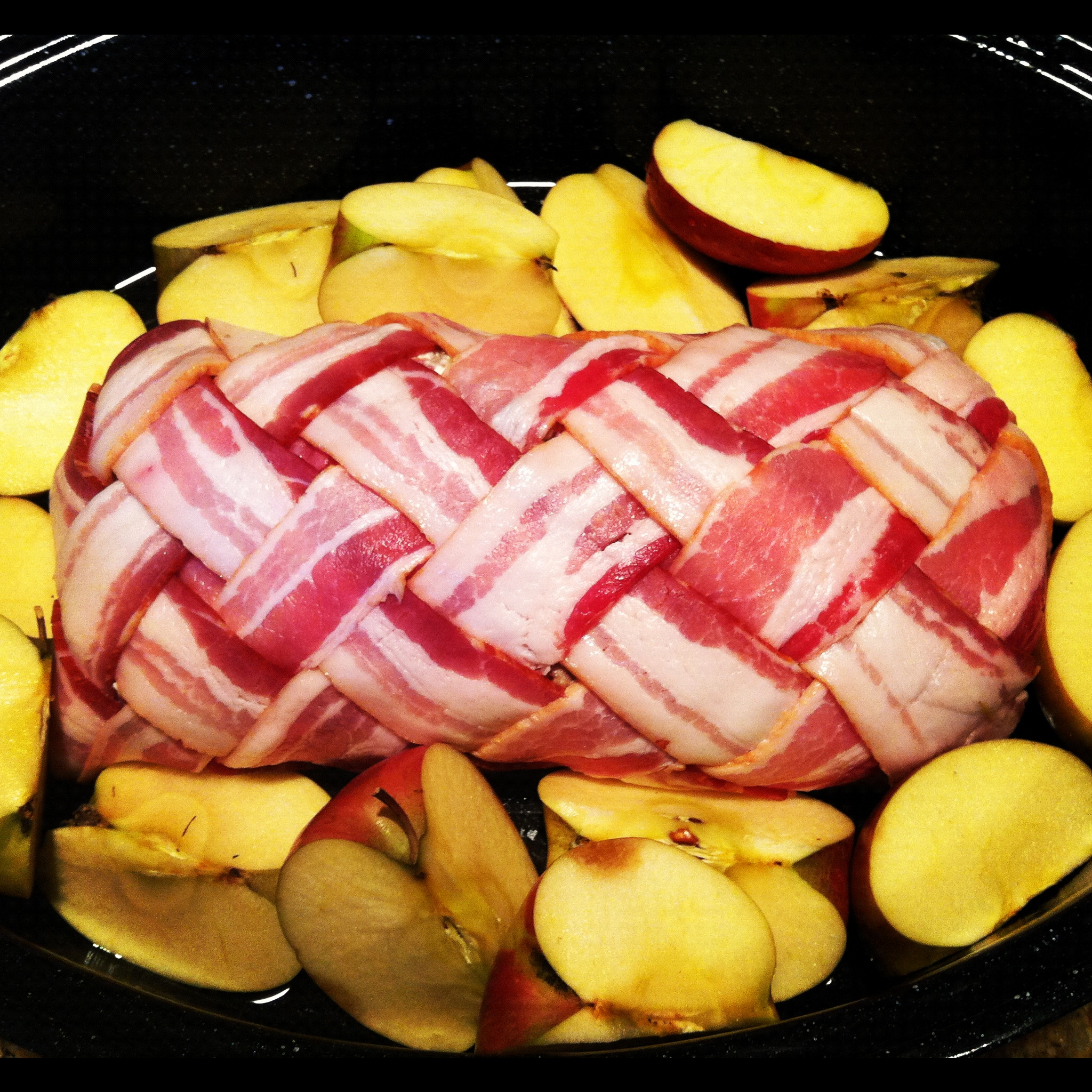 Sausage Stuffed, Bacon Wrapped, Pork Tenderloin With