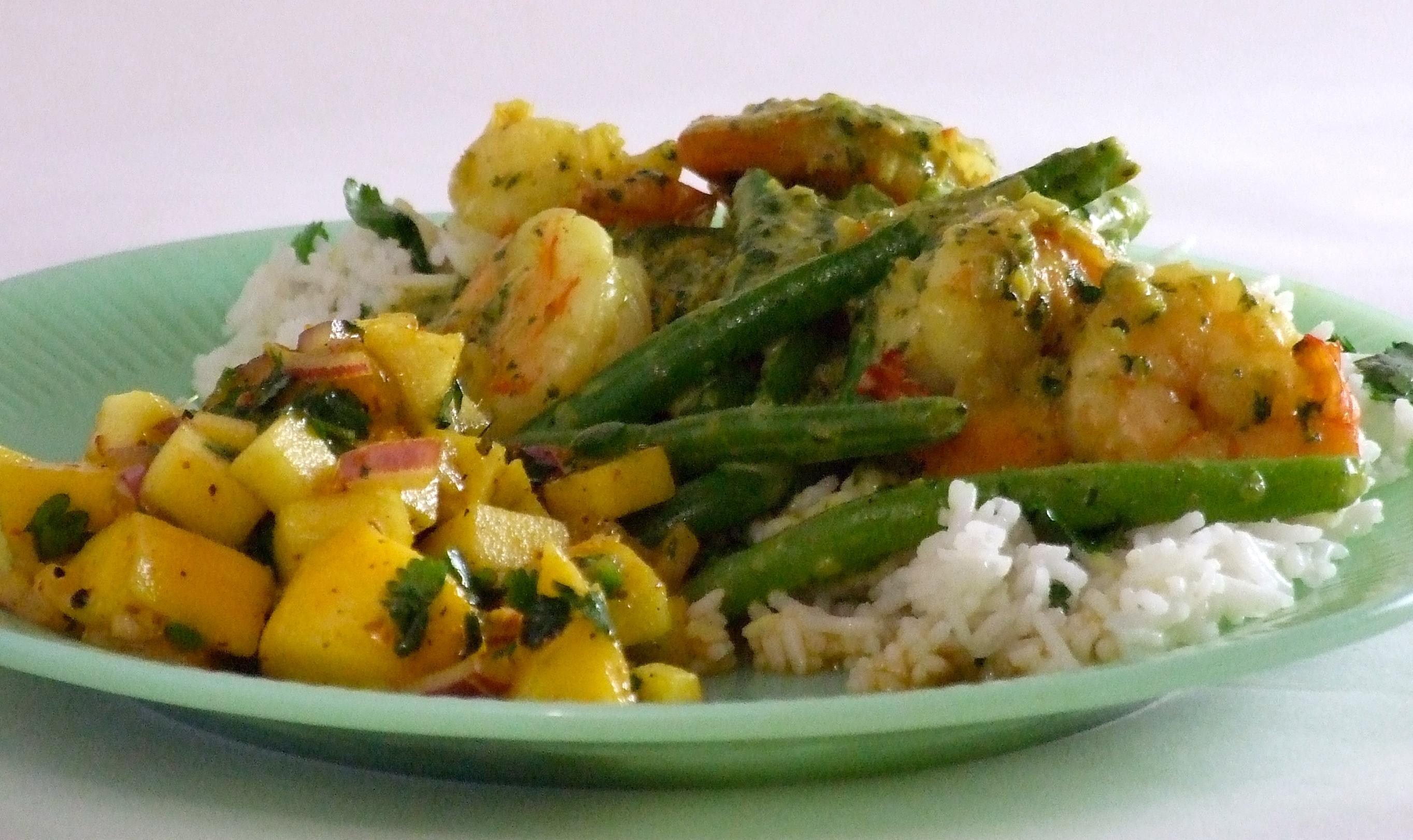 Shrimp & Coconut Curry with Mango, Apple & Orange Chutney | Someone ...