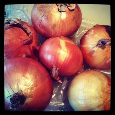 French Onion Soup Prep