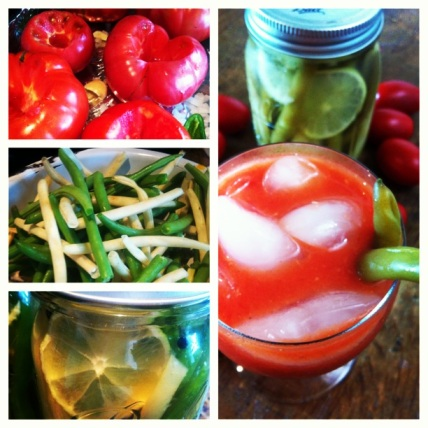 Roasted Mary's with Pickled Beans