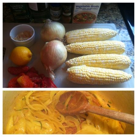 Chilled Corn Chowder Prep
