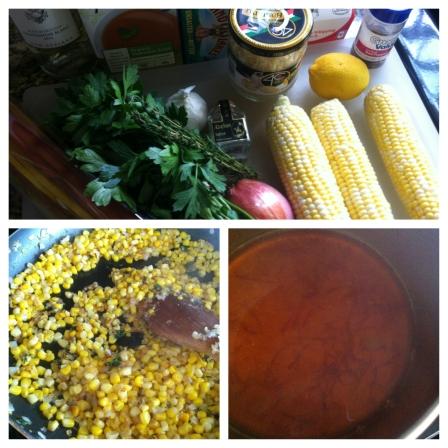 Saffron Corn Pasta Prep