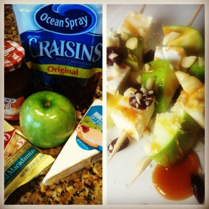Caramel Apple & Briew Skewer