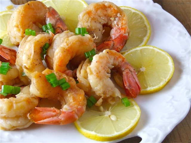 Ginger-Sake Shrimp