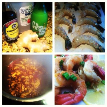 Ginger Sake Shrimp